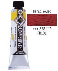 REMBRANDT ARTIST ACRYLIC 40ml -  ПРОФЕСИОНАЛНИ АКРИЛНИ БОИ #  TRANSP. OXYDE RED