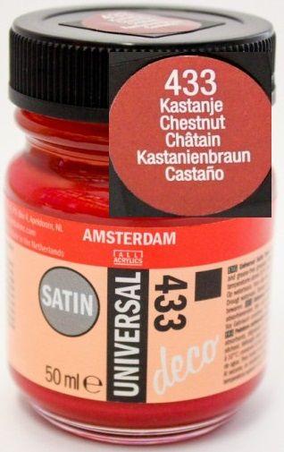 DECORFIN Universal satin, TALENS - Екстра фин акрил 50 ml, 433 CHESTNUT