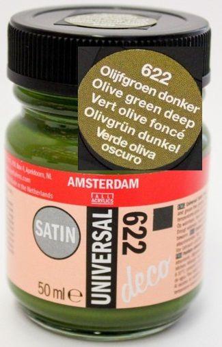 DECORFIN Universal satin, TALENS - Екстра фин акрил 50 ml, 622 OLIVE DEEP GREEN