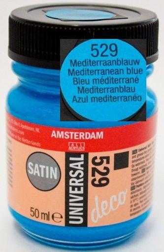 DECORFIN Universal satin, TALENS - Екстра фин акрил 50 ml, 529 MEDITERRN. BLUE