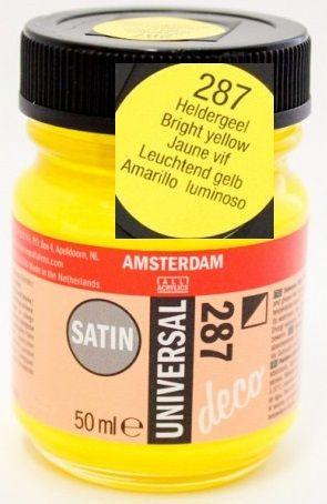 DECORFIN Universal satin, TALENS - Екстра фин акрил 50 ml, 287 BRIGHT YELLOW