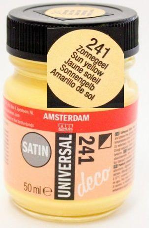 DECORFIN Universal satin, TALENS - Екстра фин акрил 50 ml, 241 SUN YELLOW