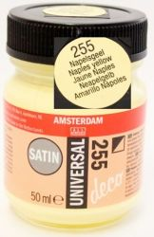 DECORFIN Universal satin, TALENS - Екстра фин акрил 50 ml, 255 NAPLES YELLOW