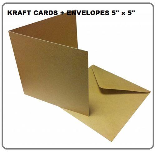 """KRAFT cards & envelopes 5"""" X 5"""" - 50 КРАФТ картички и пликове 12.5 Х 12.5"""