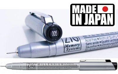 MULTILINER ZIG Japan - Профи пигментен тънкописец BLACK 005