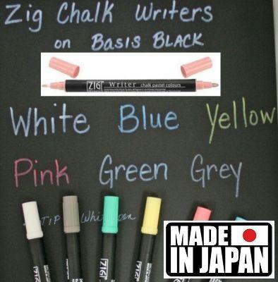 ZIG CHALK WRITER * JAPAN - Фин двувърх маркер 1.00 и 1,2 мм PASTEL PINK