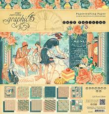 Graphic45,USA  CAFE PARISIAN 12x12 Pad  - Дизайн блок 30,5x30.5