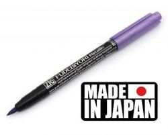 FUDEBIYORI BRUSH PEN * JAPAN - Металиков маркер четка METALLIC VIOLET