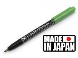 FUDEBIYORI BRUSH PEN * JAPAN - Металиков маркер четка METALLIC LT GREEN