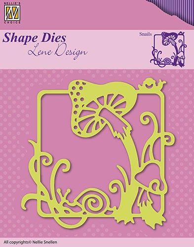 """FRAME Lene Design Summer """"snails"""" - Фигурална щанца за рязане и релеф, SDL019"""