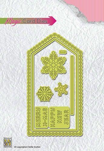 Special Card Die Christmas card-1  - Фигурални щанци за рязане и релеф,  MCD001