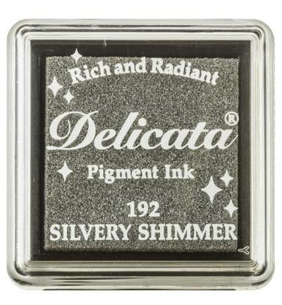 "DELICATA Metallic ""Silvery Shimmer"" - Тампон с мастило ""течно сребро"""