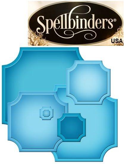 Spellbinders USA  - К-кт шаблони за изрязване и ембос S4-417
