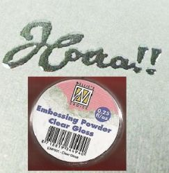 "Embossing powder ""clear gloss"" 0,25"
