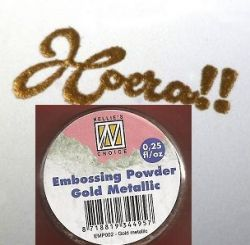 "Embossing powder ""Gold metallic"" 0,25"