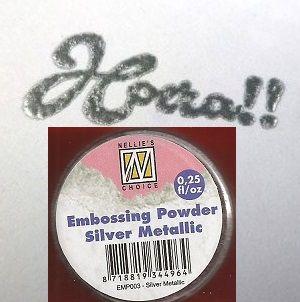 """Embossing powder """"silver metallic"""" 0.25"""