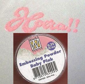 "Embossing powder ""Baby pink"" 0,25"