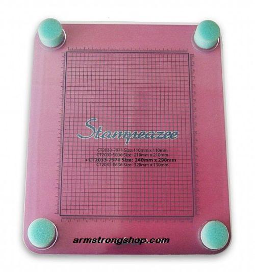 STAMPEAZEE 240 x 290 mm - ПОСТАВКА за отпечатване със силиконови и клинг печати
