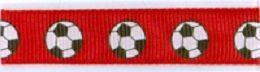 FOOTBALL RED 12mm   - Панделка   12 mm   x 2 метра