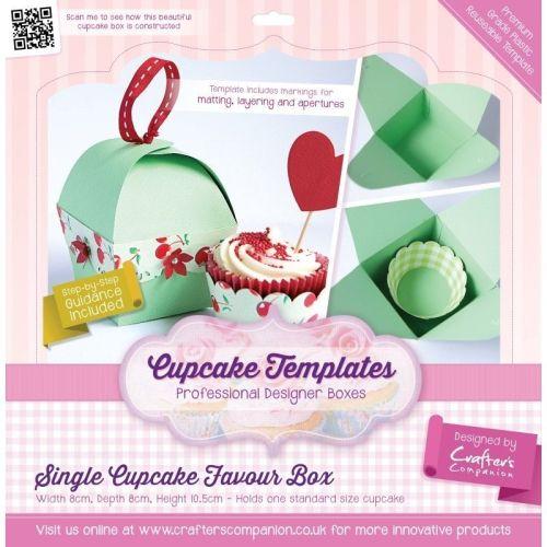 TEMPLATES CUPCAKE - SINGLE CUPCAKE FAVOUR BOX