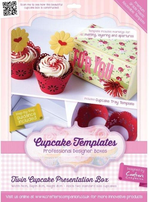 TEMPLATES CUPCAKE - TWIN CUPCAKE PRESENTATION BOX