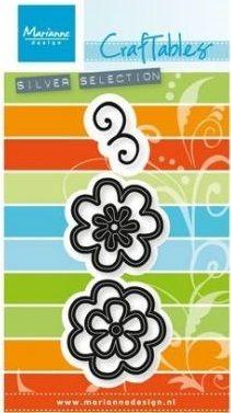 Marianne Design FLOWERS FANCY - Щанци за рязане, ембос CR1356