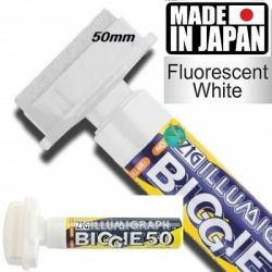 ILLUMIGRAPH FLUОRESCENT BIGGIE 50  - БЯЛ НЕОНОВ МАРКЕР  50мм. Made in Japan