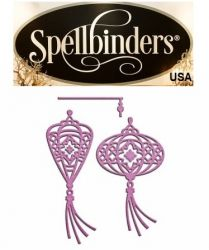 Spellbinders USA NEW - шаблон за изрязване и ембос in-043 DANCING LANTERNS
