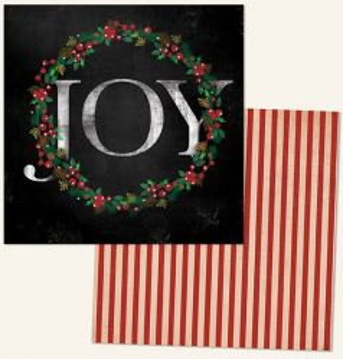 MME USA # JOY 12 X 12  - Дизайнерски скрапбукинг картон 30,5 х 30,5 см.