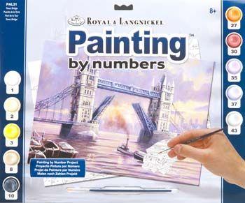 R&L USA A3- # TOWER BRIDGE - Рисуване по номера  * PAL31