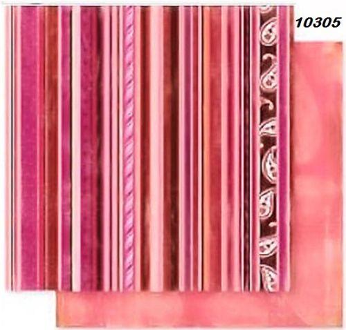 FB Romance 05 - Дизайнерски картон с ембос-глитер елементи - 30,5 Х 30,5 см.