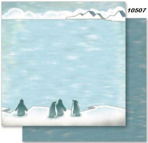 FB Christmas 07 - Дизайнерски картон с ембос-глитер елементи - 30,5 Х 30,5 см.