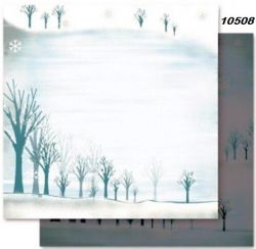 FB Christmas 08 - Дизайнерски картон с ембос-глитер елементи - 30,5 Х 30,5 см.