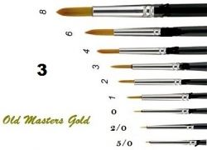 OLD MASTERS Gold . Germany  - Четкa Gold Taklon № 3