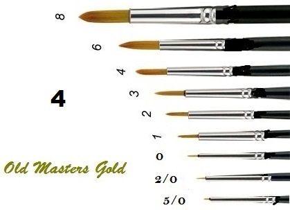 OLD MASTERS Gold . Germany  - Четкa Gold Taklon № 4