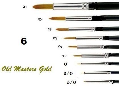OLD MASTERS Gold . Germany  - Четкa Gold Taklon № 6