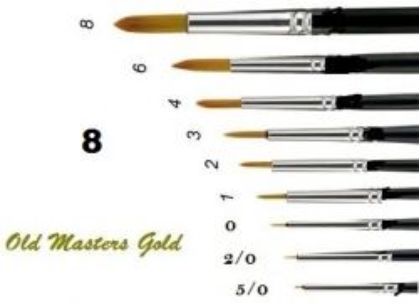OLD MASTERS Gold . Germany  - Четкa Gold Taklon № 8