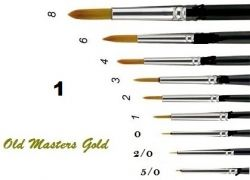OLD MASTERS Gold . Germany  - Четкa Gold Taklon № 1