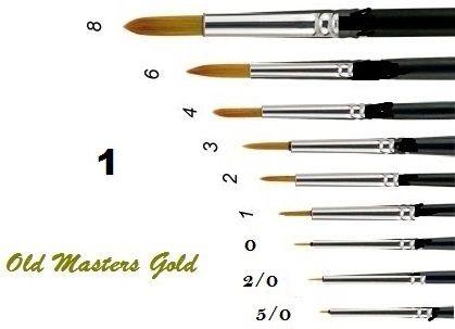 OLD MASTERS Gold . Germany  - Четкa Gold Taklon № 1