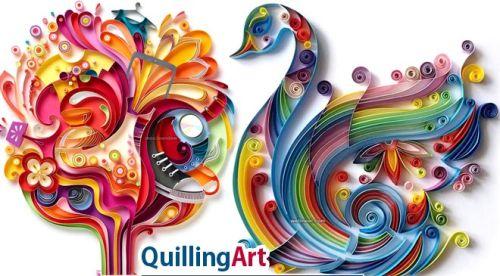 # QUILLING PAPERS ORIGINAL - Квилинг ленти 4 мм и 8 мм / 280бр