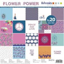 "ARTEMIO BLOCK Flower power- Скрапбукинг блок 12""х12"" / 40листа"