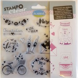 ALADINE Stampo Clear , France - Дизайнерски печати 15Х15см