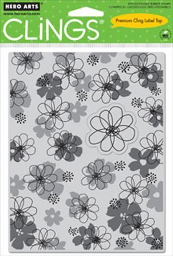 HERO ARTS, USA - `CLING` гумени печати 11 x 14 cm  FLOWER pop