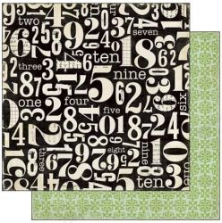 ECHO PARK . NUMBERS - Дизайнерски скрапбукинг картон 30,5 х 30,5 см.