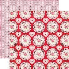 ECHO PARK . ROSES - Дизайнерски скрапбукинг картон 30,5 х 30,5 см.