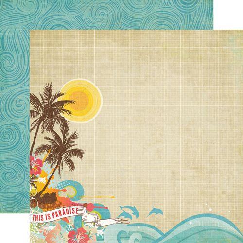 ECHO PARK . PARADISE - Дизайнерски скрапбукинг картон 30,5 х 30,5 см.