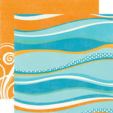 EP . BIG WAVES - Дизайнерски скрапбукинг картон 30,5 х 30,5 см.