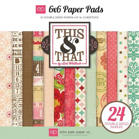ECHO PARK USA  # THIS & THAT Pad - Дизайн блок 24 бр.