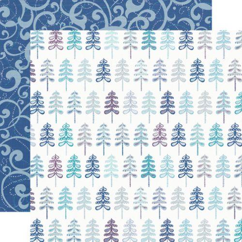 ECHO PARK . TREES - Дизайнерски скрапбукинг картон 30,5 х 30,5 см.