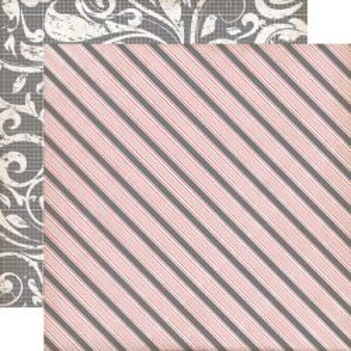 ECHO PARK . AWNING STRIPE - Дизайнерски скрапбукинг картон 30,5 х 30,5 см.